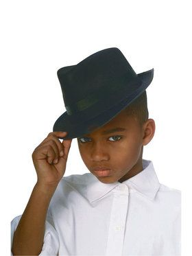 Black Durashape Fedora Hat for Children