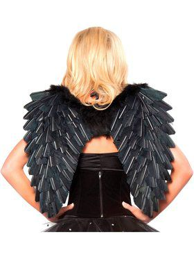 Black Feather Angel Wings 22 X 19