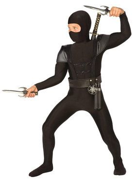 Child's Black Fighter Ninja Costume
