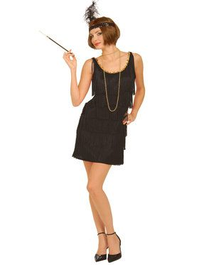 20s Flapper Black Ladies Costume