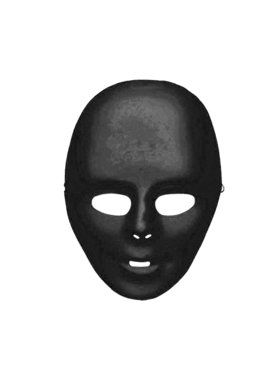 Black Plain Face 2018 Halloween Masks