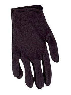 Black Cotton Gloves Adult