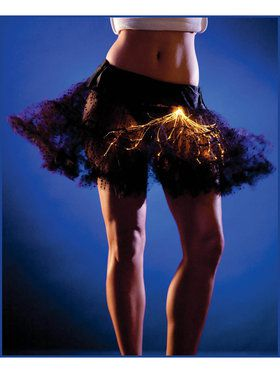 Black Light Up Petticoat Tutu with Orange Lights