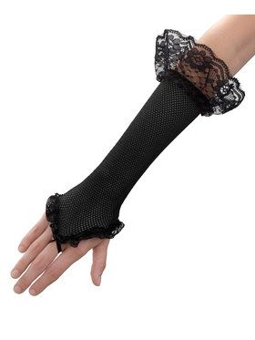 Black Mesh Fingerless Glove