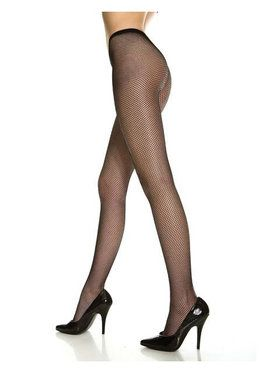 Black Nylon Fishnet Stockings Queen Size