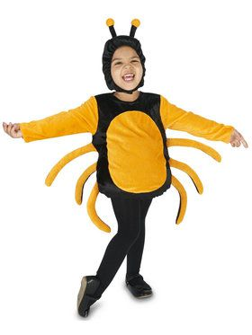 Black Orange Spider Child Costume