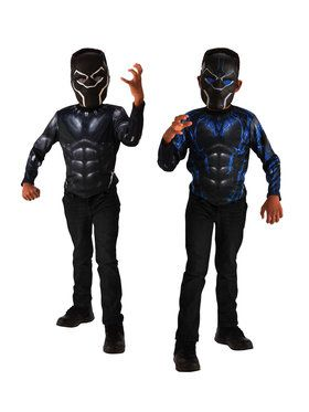 Black Panther 2-In-1 Reversible Costume Top Set