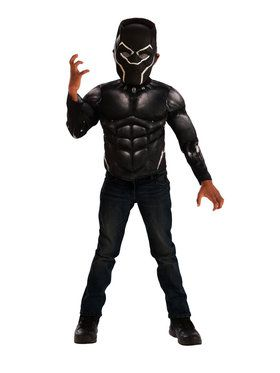 Black Panther Muscle Chest Shirt