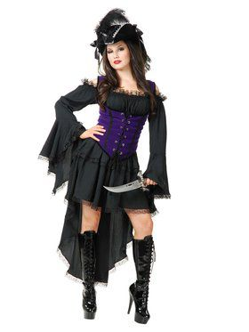 Black Pearl Pirate Lady Adult Costume