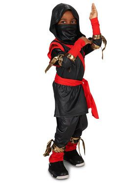 Black Red Toddler Ninja Costume