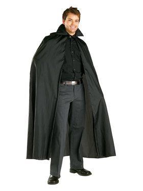 Black Satin Cape Adult