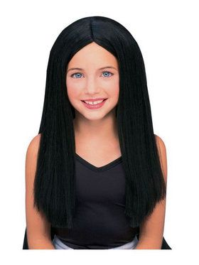 Witch Black Costume Wig for Kids