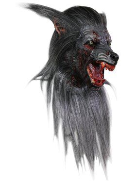 Black Wolf Adult Mask