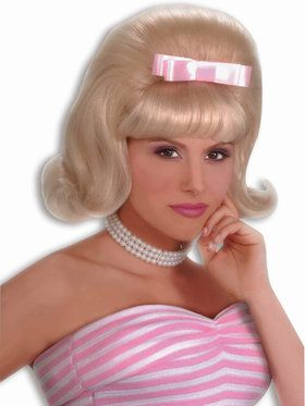 Blonde 50s Bouffant Wig Adult