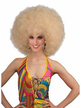 Blonde Deluxe Mega Afro Wig