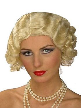 Adult Blonde Flapper Wig