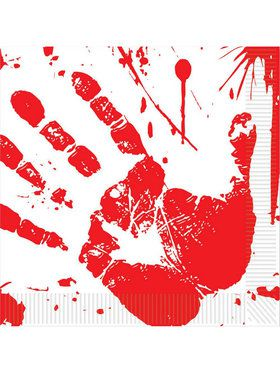 Bloody Handprints Luncheon Napkins (16 Pack)