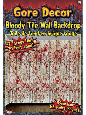 Bloody Tile Wall Dcor
