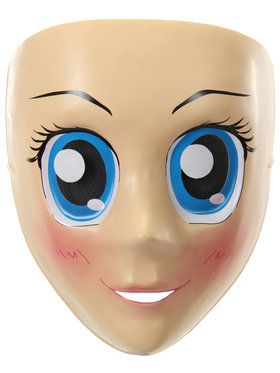 Blue Eyes Anime Adult Mask One-Size