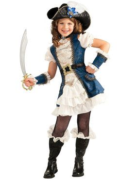 Pirate Girl Costume (Blue) for Kids