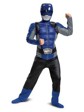 Blue Ranger Beast Morpher Classic Muscle Child Costume