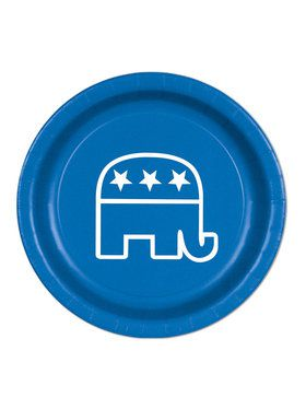 Blue Republican Plates(8 Pack)
