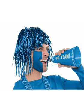 Shiny Blue Tinsel Wig