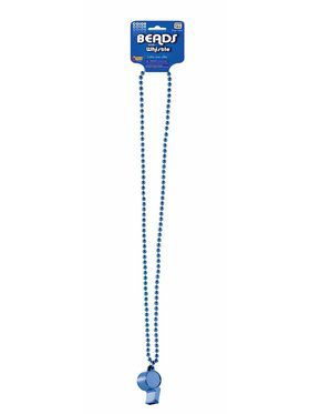 Blue Whistle w/Beaded Necklace