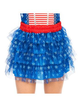 Blue White Stars Plus Tutu