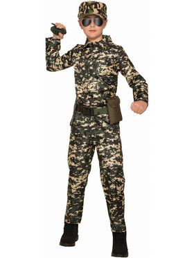 Boy - Army Jumpsuit Child Costume