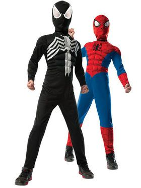 Ultimate Spider-Man 2-1 Reversible Costume for Boys