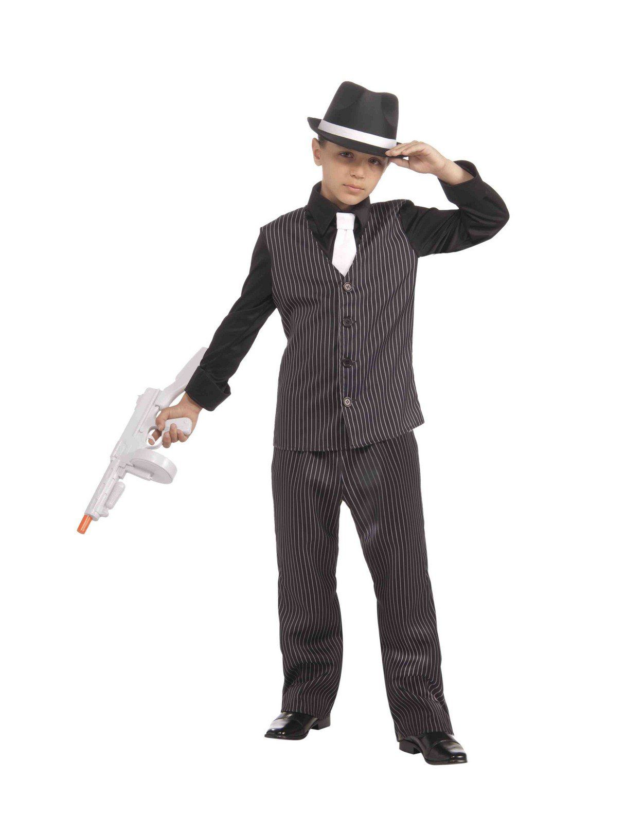 lil' gangster child 20's costume - kids 2018 halloween costumes