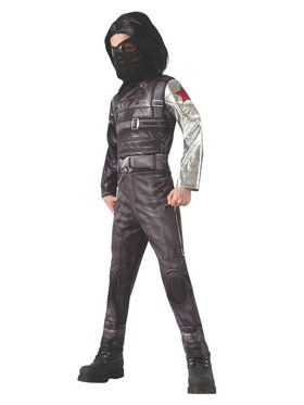 Boys Captain America Deluxe Winter Soldier Child Costume