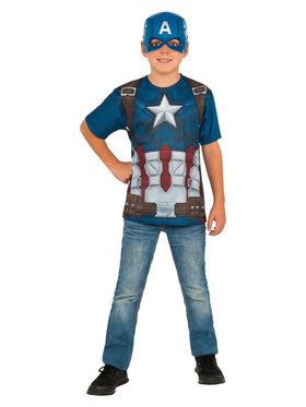 Boys Captain America Costume Top