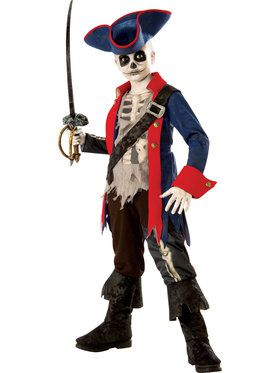 Captain Bones Boy's Costume