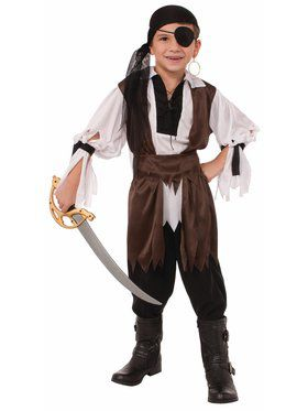 Caribbean Pirate Costume for Kids