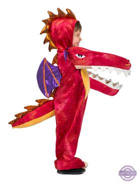Boys Chompin' Red Dragon Costume