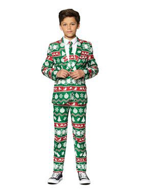 Opposuits Boys Christmas Green Nordic Christmas Suit
