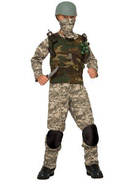 Combat Soldier Costume for Kids