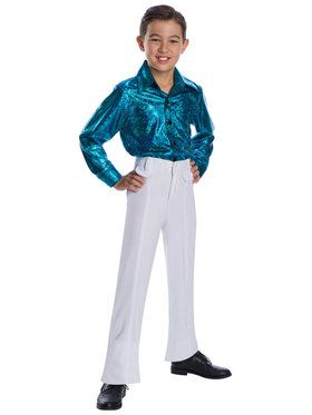 Children's Crocodile Print Disco Shirt Costume