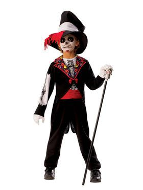Kids Day Of The Dead Boy Costume