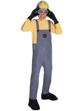 Boys Deluxe Minion Dave Costume