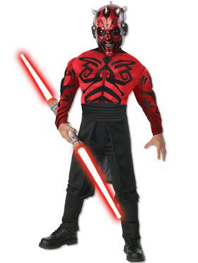 Boys Deluxe Muscle Chest Darth Maul