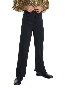 Boy's Disco Pants - Black