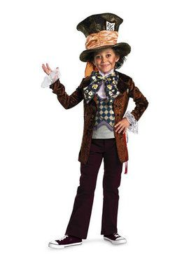 Disney Alice in Wonderland Deluxe Boys Mad Hatter Costume
