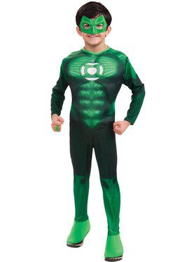 Boys Deluxe Muscle Chest Green Lantern H
