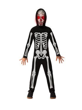 Boys Fade In Skeleton Costume