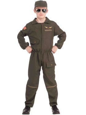 Boys Fighter Jet Pilot Costume