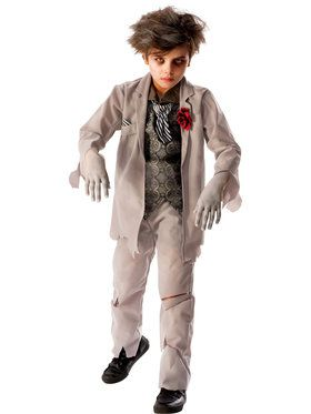Boy's Ghostly Spirit Groom Costume