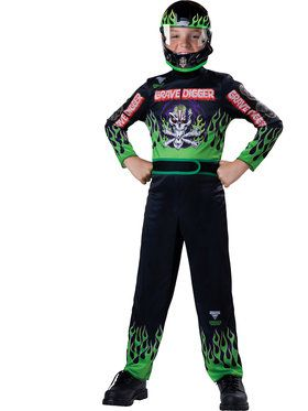 Boys Grave Digger Monster Jam Costume